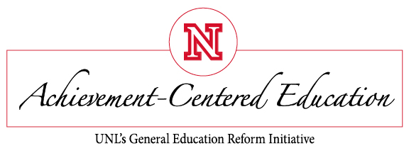 Logo for Achievement-Centered Education, UNL's General Education Initiative
